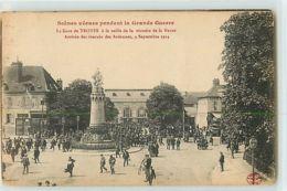 9143 - TROYES - SCENES VECUES / LA GARE DE TROYES A LA VEILLE DE LA VICTOIRE DE LA MARNE - Troyes