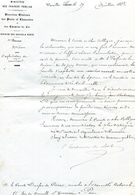 Pierre TEISSERENC De BORT ( Ministre De L'Agriculture Et Du Commerce ) 1872  LA COLLANCELLE (Nièvre) - Autographs