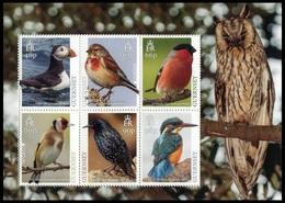 """Europa - CEPT   Guernsey 2019 """"Aves Nacionales"""" - MH ** - Guernesey"""