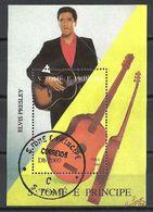 Célébrités Saint Thomas Et Prince 1994 (34) Bloc Yvert N° 153 Oblitérés Used - Elvis Presley