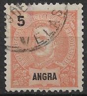 Angra – 1897 King Carlos 5 Réis VELAS Cancellation - Angra