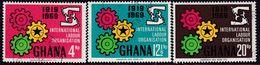 GHANA 1970 SG 560-62 Compl.set Used Int. Labour Organization - Ghana (1957-...)