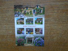 Bretagne , Fleurs Et Vieille Pierres , Multi-vues - Bretagne