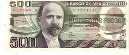 Mexico P.79b 500 Pesos 1984  Unc - Mexico