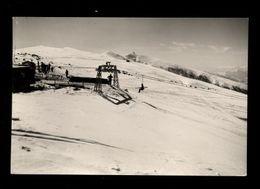 C3738 COL TORONT (BELLUNO) - ARRIVO DELLA SEGGIOVIA DEL NEVEGAL COL COL VISENTIN B\N VG 1955 - FOTO BURLONI - Italia