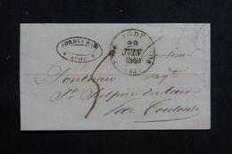 FRANCE - Lettre De Adge Pour St Sulpice Du Tarn En 1840,cursive De La Pointe St Sulpice  Au Verso Bien Frappée - L 62256 - 1801-1848: Precursori XIX