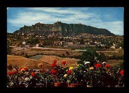C3741 REPUBBLICA DI SAN MARINO - MONTE TITANO VG FRANCOBOLLO ASPORTATO - ED. MARCACCINI RIMINI - San Marino