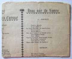 PAROLES DE CHANSONS ANCIENNES MON AMANT DE ST JEAN CA SENT SI BON LA FRANCE LA CHANSON DU MAçon BEAU SOIR DE VIENNE .. - Scores & Partitions
