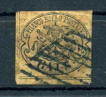 1852 STATO PONTIFICIO 1° Em. 3 Baj USATO N.4 - Papal States
