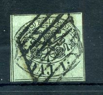 1852 STATO PONTIFICIO 1° Em. 1 Baj USATO N.2 - Papal States