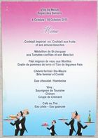 CARTE DE MENU 2015 VILLE DE MELUN 77 SEINE ET MARNE - Menükarten