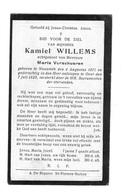 Bidprentje - Willems - Verschueren - Nazareth - Religion & Esotérisme
