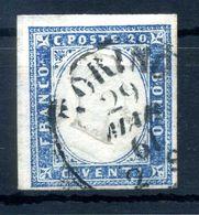 1855-63 SARDEGNA 20c USATO N.15 - Sardaigne