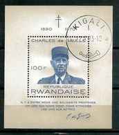 RWANDA CELEBRITES 1971 (7) N° Yvert Bloc 23 Oblitérés Used - Rwanda