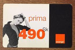 SLOVENIE ORANGE 490SK RECHARGE GSM EXP LE 30/06/2004 PREPAID CARTE PRÉPAYÉE PREPAID - Slovénie