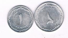 1 +2 CENTIMES 1964 ALGERIJE /4223/ - Algeria