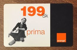 SLOVENIE ORANGE 199SK RECHARGE GSM EXP LE 30/06/2004 PREPAID CARTE PRÉPAYÉE PREPAID - Slovénie