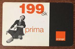SLOVENIE ORANGE 199SK RECHARGE GSM EXP LE 31/12/2004 PREPAID CARTE PRÉPAYÉE PREPAID - Slovénie