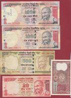 Inde 10 Billets Dans L 'état Lot N °1 - India