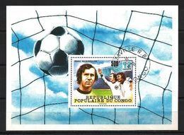 CONGO CELEBRITES 1978 (24) Bloc Yvert N° 15 Oblitérés Used - Oblitérés