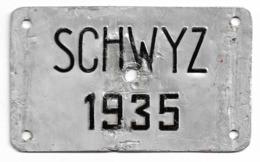 Velonummer Schwyz SZ 35 - Placas De Matriculación