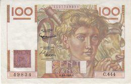 Billet 100 F Paysan Du 3-4-1952 FAY 28.32 Alph. C.444 Bel état - 1871-1952 Circulated During XXth