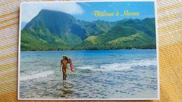 CPM POLYNESIE FRANCAISE Baie De Afareaitu A Moorea VAHINEE TAHITIENNE SEINS NUS TEVA SYLVAIN 35 PACIFIC PROMOTION TAHITI - Polynésie Française