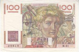 Billet 100 F Paysan Du 18-4-1946 FAY 28.03 Alph. M.41 Sans épinglage - 1871-1952 Circulated During XXth
