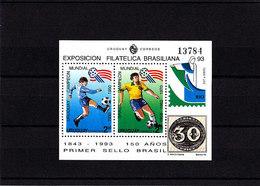 Soccer World Cup 1994 - Football - URUGUAY - S/S MNH - Coupe Du Monde