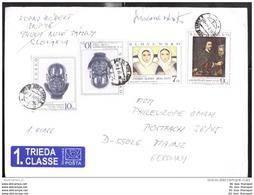 Slowakei Slovakia Slovensko 211 264 292 Gemälde Kunst Brief Cover (12515) FFF - Slovaquie