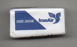 IRAN - CUBE DE SUCRE - SUGAR CUBE - IRAN AIR - - Sugars
