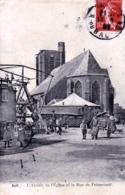 80 - Somme - AULT - L Abside De L Eglise Et La Rue De Friancourt - Manege Fete Foraine - Ault
