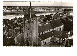 45 Jargeau En Avion Au Dessus De Eglise Edit Lapie Cachet 1963 CPSM PF - Jargeau