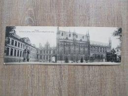 CPA DOUBLE BELGIQUE BRUGES PALAIS DE JUSTICE HOTEL DE VILLE ET CHAPELLE DU ST SANG - Brugge