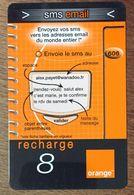 RÉUNION ORANGE SMS EMAIL RECHARGE GSM 8 EURO EXP 12/105 PRÉPAYÉE CARTE À CODE PHONECARD CARD PREPAID - Réunion