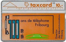 Switzerland - Swisscom (L&G) - V Cards - V-3 - FD Fribourg - 906C - 06.1989, 10Fr, 5.000ex, Used - Zwitserland