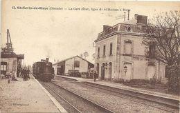 CPA Saint-Savin La Gare Ligne De St-Mariens à Blaye - Otros Municipios