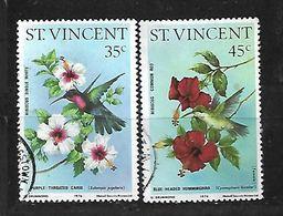 ST VINCENT 1976 BIRDS & FLOWERS PAIR - St.Vincent (1979-...)