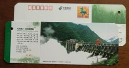 Dam Water Discharge,China 2011 Fengtan Hydropower Station 3A Scenic Spot Ticket Small Size Pre-stamped Card - Agua