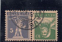 Suisse - Tête Bêche - N°YT 197a Oblitéré - Année 1924-27 - Kehrdrucke