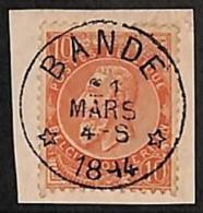 NB - [812481]TB//O/Used-BELGIQUE 1894 - N° 57, 10c Rouge-brun, Sur Fragment, *BANDE*, Coba +8, Obl Concours, Relais, éto - Postmark Collection