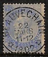 NB - [812559]TB//O/Used-BELGIQUE 1902 - N° 60, 25c Bleu Fine Barbe, *BEAUVECHAIN*, Concours, Coba +12, Relais, étoiles - Postmark Collection