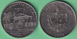 2001-MN-210 CUBA UNC 1$ CUPRO-NICKEL 2001. MONUMENTOS DE CUBA. LA HABANA EL TEMPLETE. - Cuba