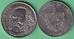 2002-MN-201 CUBA UNC 1$ CUPRO-NICKEL 2002. KARL MARX GERMANY COMUNISMO COMMUNISM. - Cuba