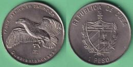 2004-MN-202 CUBA UNC 1$ CUPRO-NICKEL 2004. FAUNA IBERICA EN EXTINCION ESPAÑA. QUEBRANTAHUESOS BIRD. - Cuba