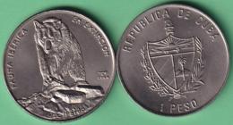 2004-MN-204 CUBA UNC 1$ CUPRO-NICKEL 2004. FAUNA IBERICA EN EXTINCION ESPAÑA. OSO PARDO BEAR. - Cuba