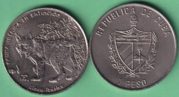 2004-MN-206 CUBA UNC 1$ CUPRO-NICKEL 2004. FAUNA IBERICA EN EXTINCION ESPAÑA. LINCE IBERICO . - Cuba