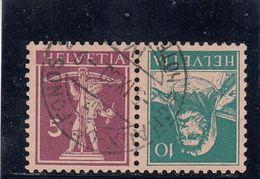 Suisse - Tête Bêche - N°YT 198b - Oblitéré - Année 1924-27 - Kehrdrucke