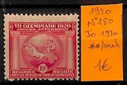 NB - [814863]TB//**/Mnh-Belgique 1920 - N° 180,  Sports, Jeux Olympiques - Jeux Olympiques