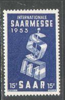 M1410 ✅ Industry Fair French Occupation Local 1953 SAAR Germany 1v MNH ** 2.6ME - Ongebruikt